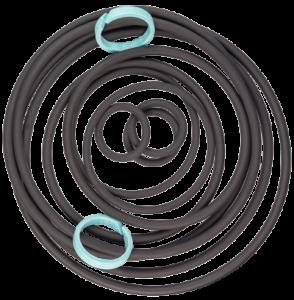 O-Ringe und Führungsringe in verschiedenen Größen